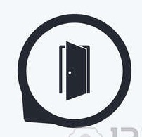 53032137 automatic door icon emergency exit with human figure and arrow symbols fire exit signs flat icon poi Copy (2)