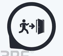 53032137 automatic door icon emergency exit with human figure and arrow symbols fire exit signs flat icon poi Copy (3)